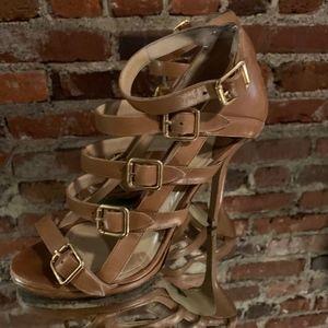 Pierre Hardy Strappy Stilettos Size 8.5 39 Tan